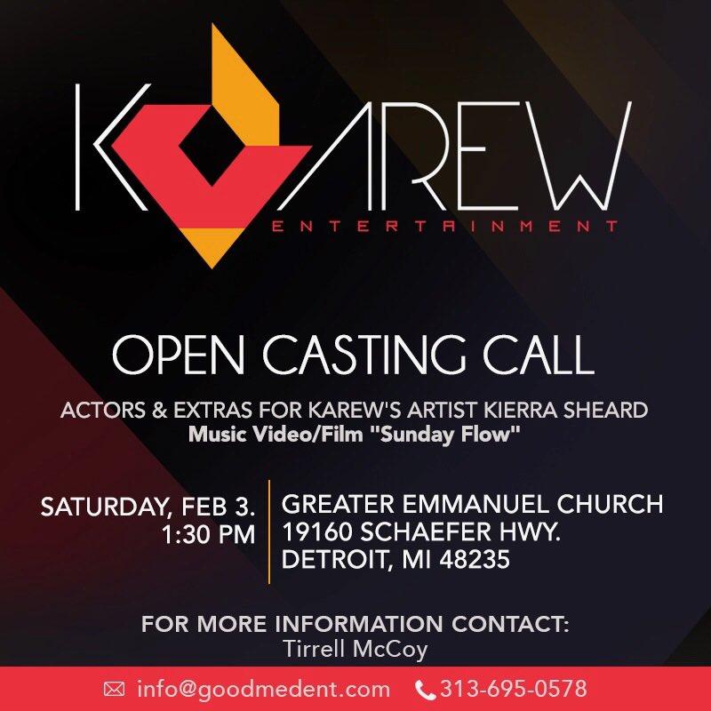 Open Casting Call From KaRew Entertainment DetroitGospel