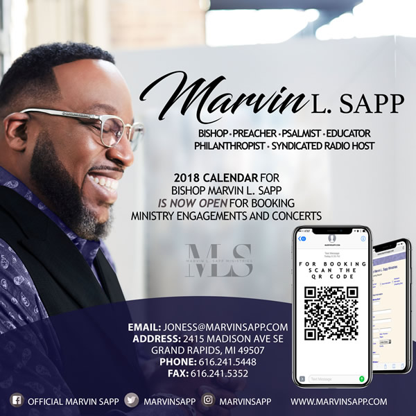 2018 Calendar for Bishop Marvin L. Sapp is NOW OPEN for ...