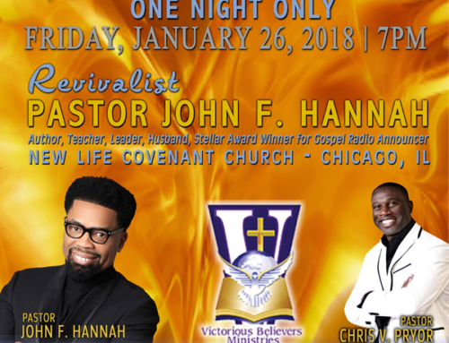 JAN 26:  Pastor John F. Hannah @ Victorious Believers Ministries