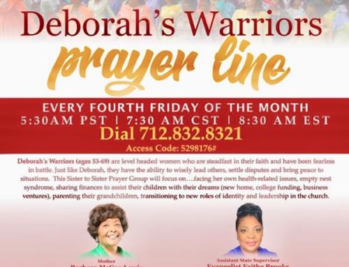 4th Fridays: Deborah's Warriors PRAYER LINE
