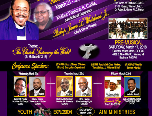 MAR 21-25: SW 2nd Jurisdiction of MI COGIC Spring Conference Workers Meeting