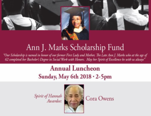 May 6: Annual Luncheon for Ann J. Marks Scholarship Fund