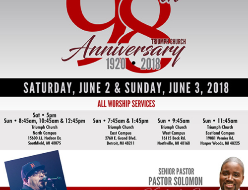 June 2 & 3: Triumph Church welcomes Fred Hammond for 98th Church Anniversary Celebration (F*R*E*E)