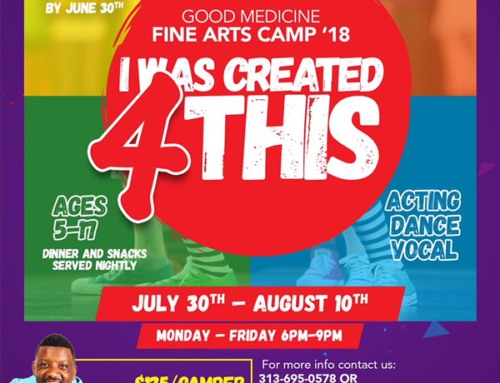 "Register TODAY for GMD's ""I WAS CREATED 4 THIS"" Fine Arts Camp (ages 5-17)"
