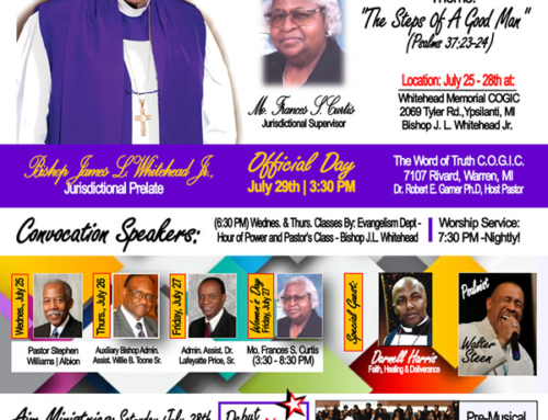 JUL 25-28: 2nd Jurisdiction of SW MI COGIC Holy Convocation 2018