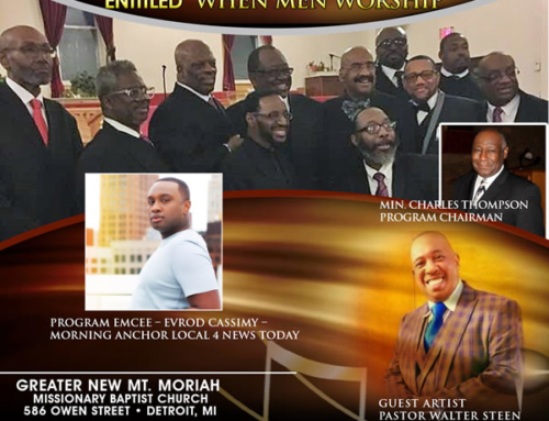 "AUG 12: GMWA Detroit presents Men's Division In Concert ""When Men Worship"""