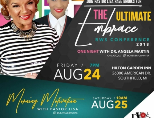 "AUG 24 & 25: Join Pastor Lisa Page Brooks & Dr. Angela Martin for ""The Ultimate Embrace"""