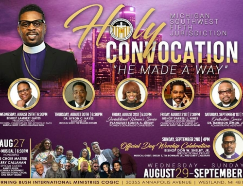 AUG 27: Pre-Musical / AUG 29-SEP 2: MI SW 5th Jurisdiction Holy Convocation