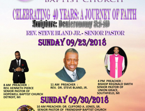 SEPT 23, 29 & 30: Liberty Temple Baptist Church is Celebrating 40 Years