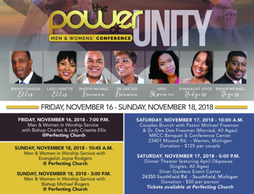 NOV 16-18: Join Bishop Marvin Winans for The Power of Unity Men & Women's Conference