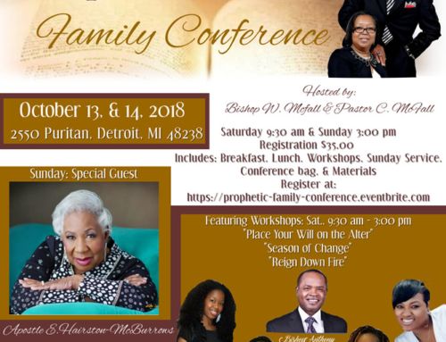 OCT 13 & 14: Join Gospel Truth CCC for Prophetic Family Conference