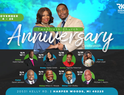 NOV 4-25: Rhema International Church's 20th Church Anniversary Celebration