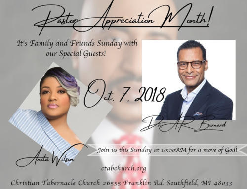 OCT 7: Dr. A. R. Bernard and Anita Wilson at Christian Tabernacle Church