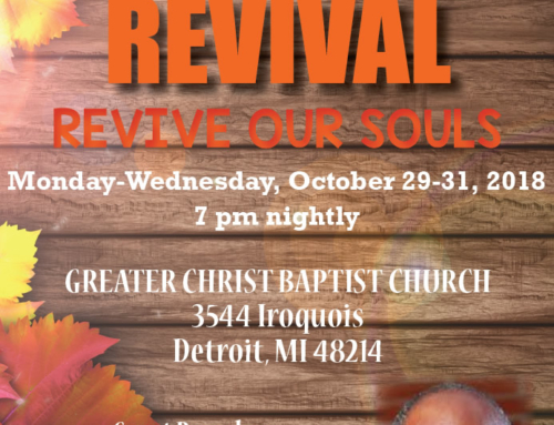 OCT 29-31: Greater Christ welcomes Dr. Charles E. Booth for Fall Revival