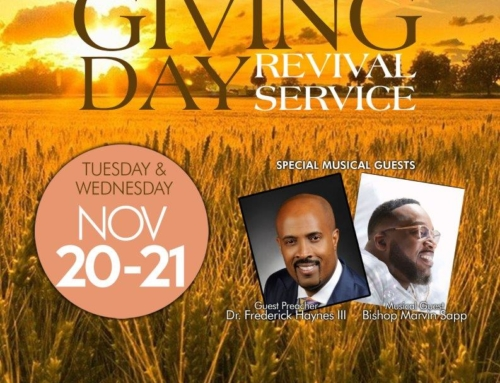 NOV 20-21: Triumph Church Pre-Thanksgiving Day Revival Services with Dr. Frederick Haynes III and Bishop Marvin Sapp