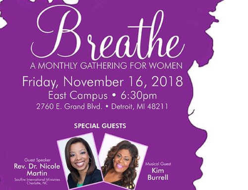 NOV 16: Triumph Church welcomes Kim Burrell and Rev. Dr. Nicole Martin to BREATHE