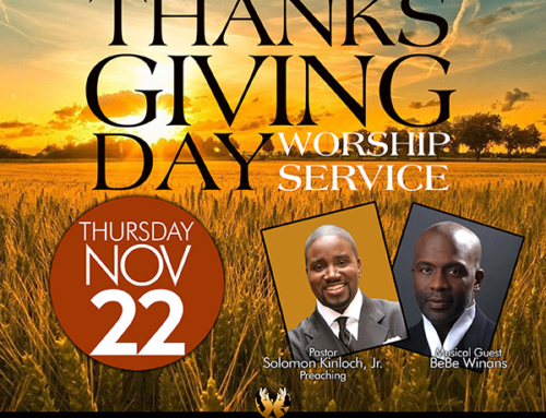 NOV 22: Triumph Church Thanksgiving Day Services with Pastor Solomon Kinloch, Jr. and BeBe Winans
