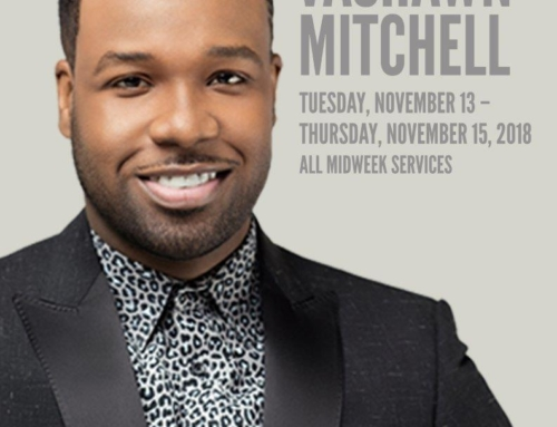 NOV 13-15: Triumph Church welcomes special guest Vashawn Mitchell to all midweek services