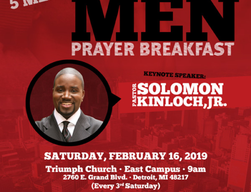 "FEB 16: Join Triumph Church and Pastor Kinloch for ""1,000 Men Prayer Breakfast"""