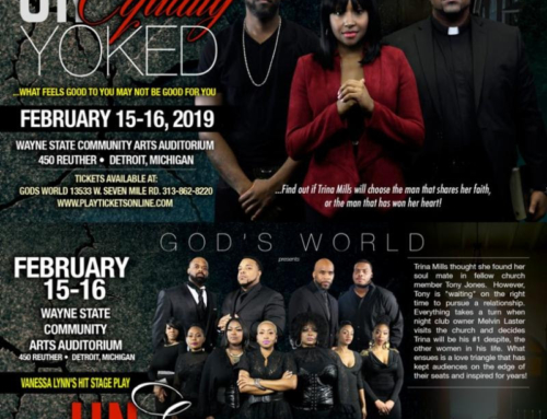 FEB 15-16: God's World presents the return of Vanessa Lynn's hit stage play Unequally Yoked