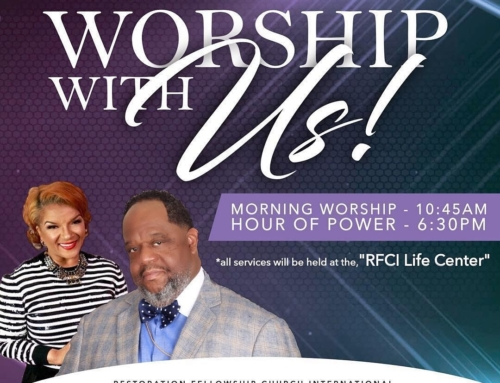 SUNDAYS: Bishop Michael Alan Brooks and Pastor LisaC. Brooks Invite You To WORSHIP WITH THEM!