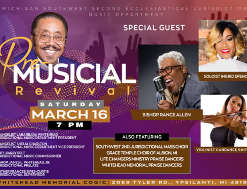 MAR 16: SW2 Pre-Musical with Bishop Rance Allen, Soloist Ingrid Spenser, Violinist Candice Smith & MORE!