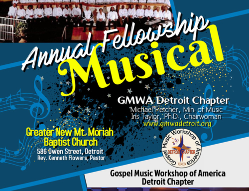 MAY 24: GMWA Detroit Chapter Annual Fellowship Musical (Featuring  G.M.A.C.)