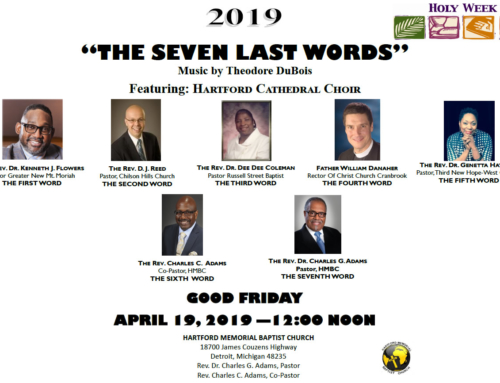 "APR 19 @ Noon: ""The Seven Last Words"" at Hartford MBC"