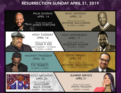 APR 14-21: Triumph Church welcomes James Fortune, Donnie McClurkin, John P. Kee, Hezekiah Walker, Tye Tribbett, Richard Smallwood, Mississippi Mass Choir & Anita Wilson (F*R*E*E)