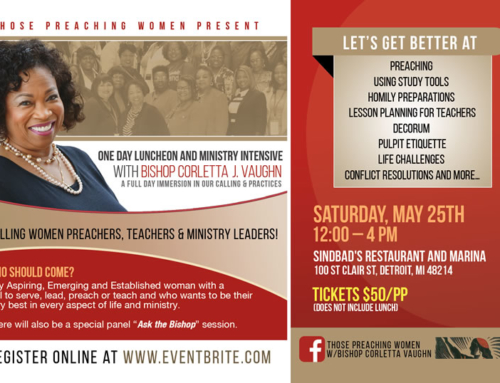 MAY 25: 1-Day Luncheon & Ministry Intensive with Bishop Corletta J. Vaughn @ Sinbad's Restaurant & Marina