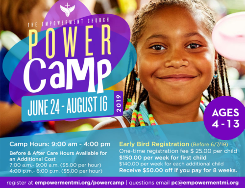 "Jun 24 – Aug 16: The Empowerment Church ""Power Camp"" for Ages 4-13"