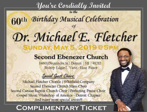 MAY 5: 60th Birthday Musical Celebration for Dr. Michael E. Fletcher