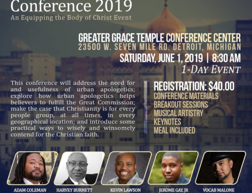 JUNE 1: Urban Apologetics Conference 2019