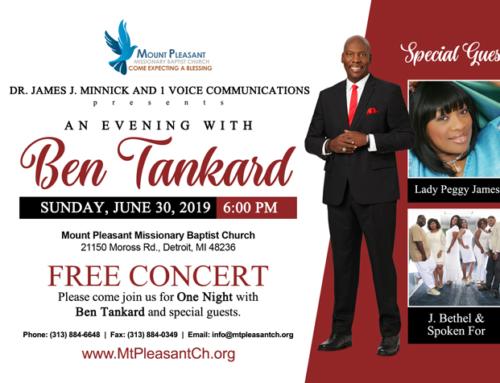 """JUN 30: """"An Evening With Ben Tankard"""" ~ Free Concert"""