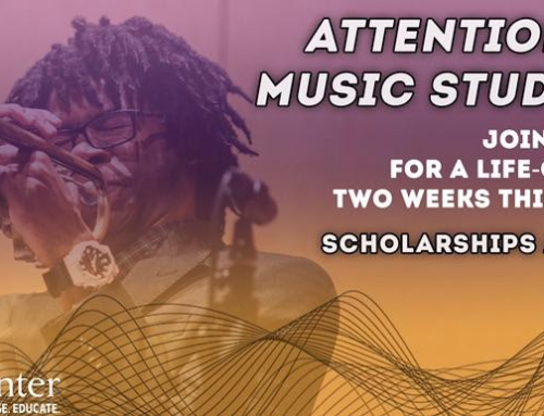 ATTENTION MUSIC STUDENTS: August registration still open for The Carr Center Summer Music Intensive