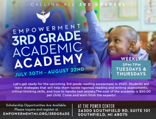 JUL 30-AUG 22: The Empowerment 3rd Grade Academic Academy… Register Today!