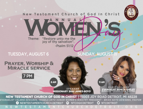 AUG 6 & 11: New Testament COGIC Annual Women's Day