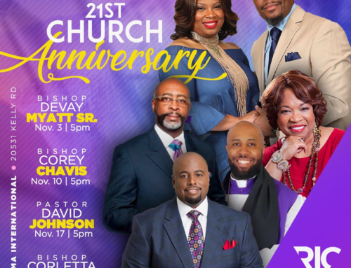 Sundays in November join Rhema Int'l Church in celebrating their 21st Church Anniversary