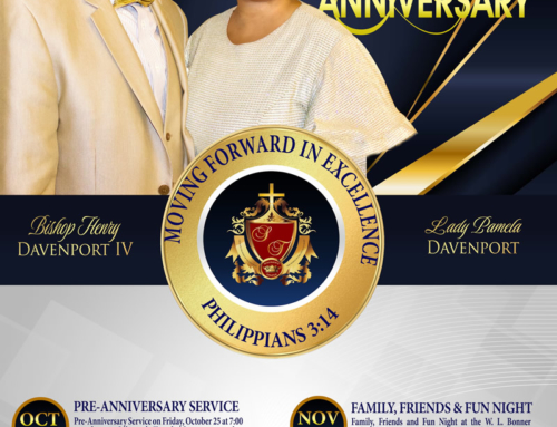OCT 25 & NOV 1-3: Celebrate Bishop & 1st Lady Davenport's 5th Year Anniversary