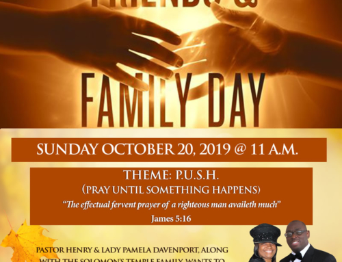 OCT 20: Solomon's Temple invites you to Friends & Family Day