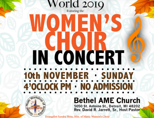 NOV 10: GMWA Detroit Chapter Women's Concert