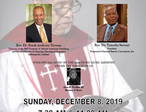 DEC 8: Hartford is Celebrating the Birthday & Retirement of The Rev. Dr. Charles Gilchrist Adams, Pastor Emeritus
