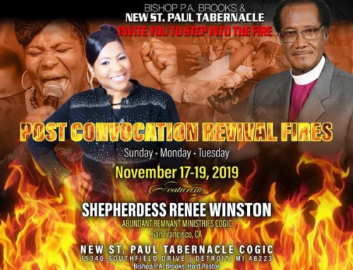 NOV 17-19: Bishop P.A. Brooks & New St. Paul Tabernacle Invite You to Step Into The Fire…