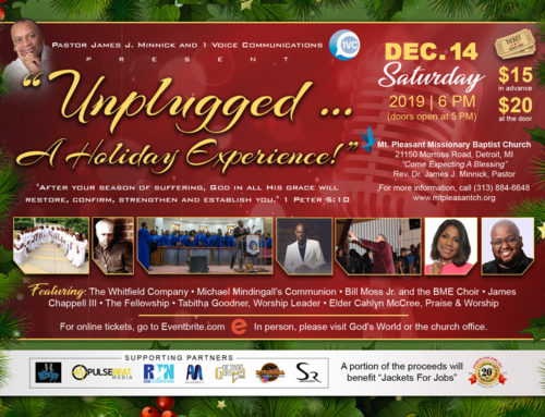 "DEC 14: ""Unplugged … A Holiday Experience"" featuring The Whitfield Company, Michael Mindingall, Bill Moss, Jr., & MORE!"