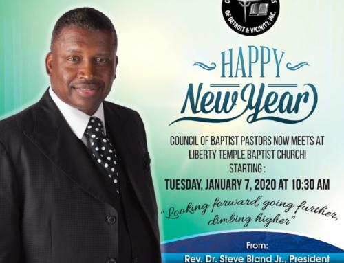 Happy New Year from the Council of Baptist Pastors of Detroit & Vicinity, Inc.