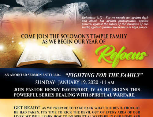 JAN 19: Pastor Henry Davenport, IV begins a powerful series dealing with Spiritual Warfare
