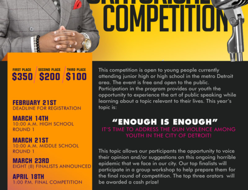 Good Medicine Development presents The Frances Louise ORATORICAL COMPETITION