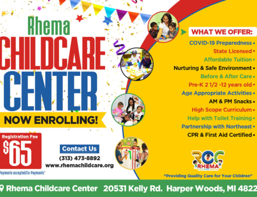 Rhema Childcare Center & Summer Camp ~ Enroll NOW!