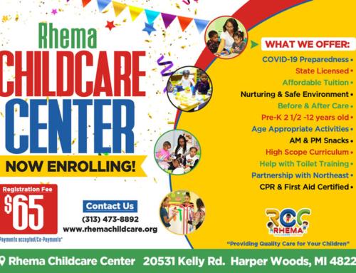 Rhema Childcare Center & Summer Camp ~ Enroll NOW!