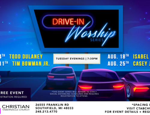 Tuesdays in Aug: Christian Tab DRIVE-IN Worship Series w/ Todd Dulaney, Tim Bowman Jr, Isabel Davis & Casey J